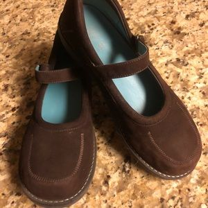 Ladies Gap Flat Loafer Mary Jane Brown Shoes 7 M